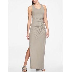 Athleta Playa Long maxi ruched travel tank Dress